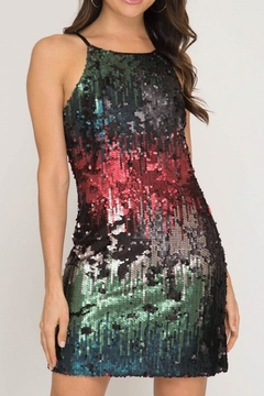 She + Sky Ombre Sequin Dress - Product List Image