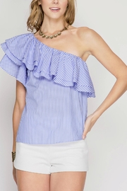 She + Sky One Shoulder Blouse - Product Mini Image