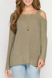 She + Sky One Shoulder Top - Product Mini Image