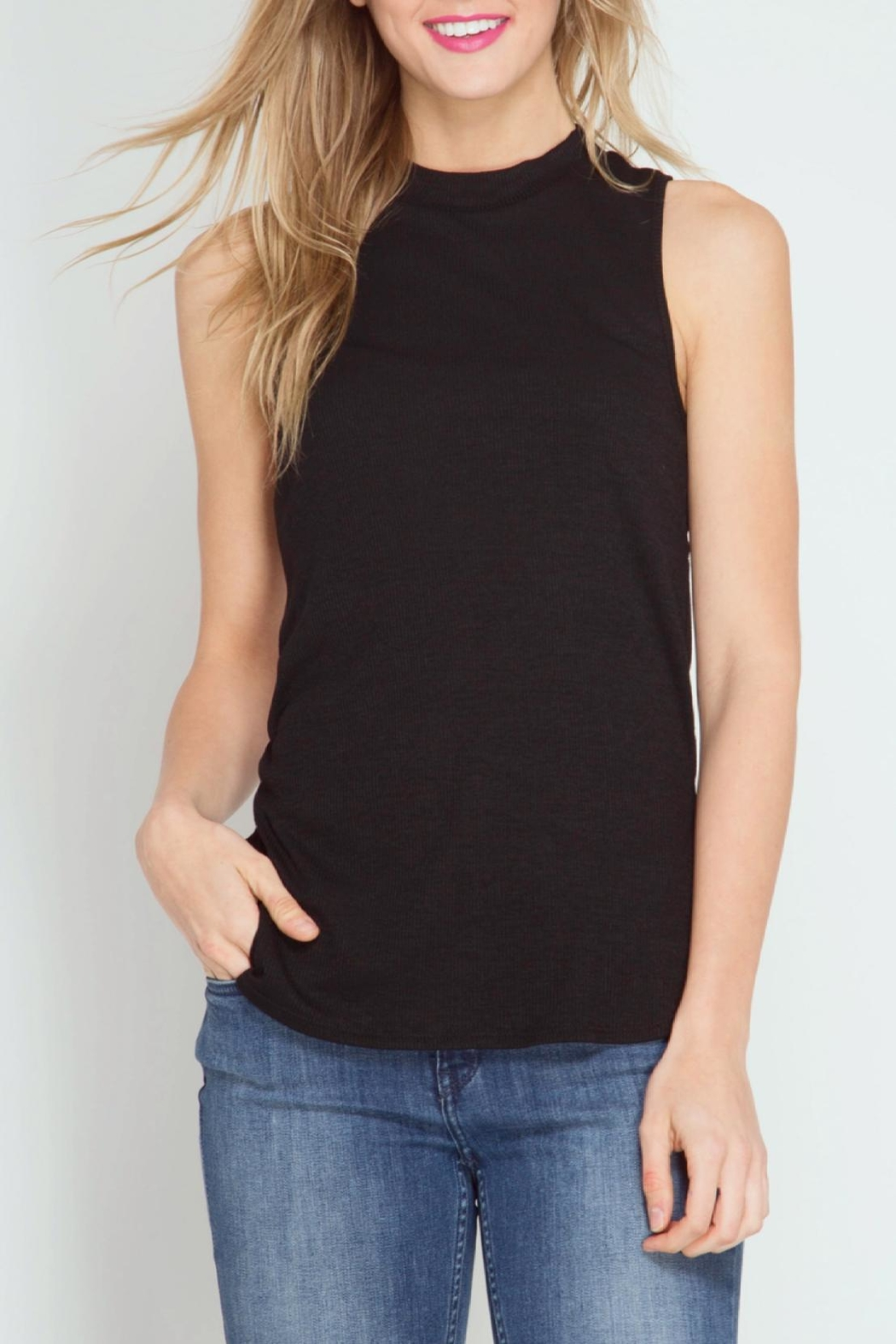 She + Sky Open Back Tank Top - Front Cropped Image