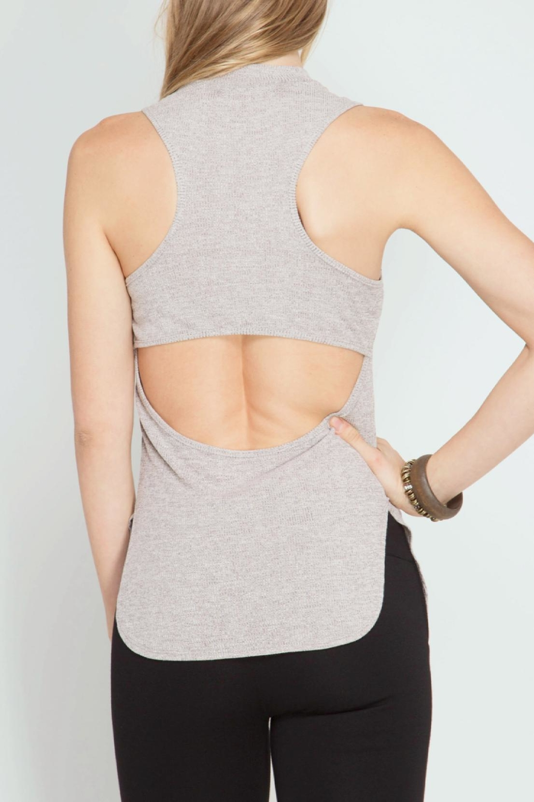 She + Sky Open Back Tank Top - Front Full Image