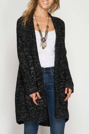 She + Sky Open Cardigan Sweater - Front cropped
