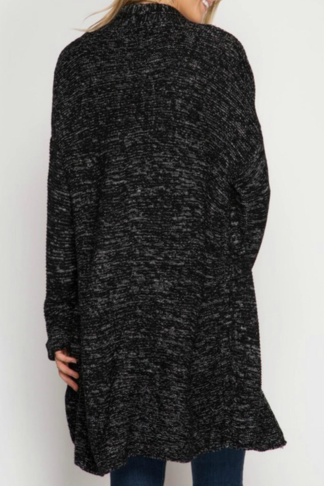 She + Sky Open Cardigan Sweater - Front Full Image