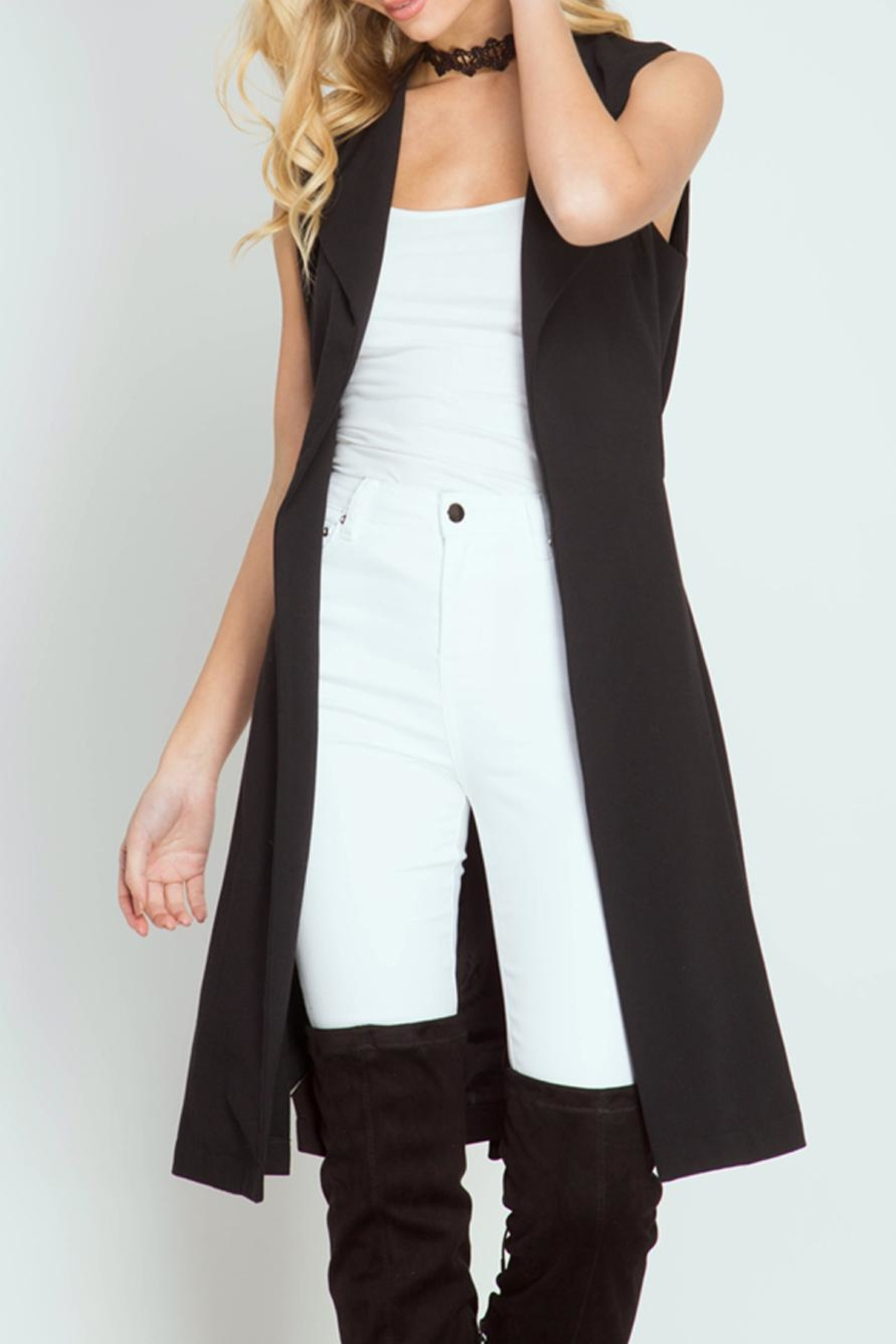 She + Sky Open-Front Trench Vest - Main Image