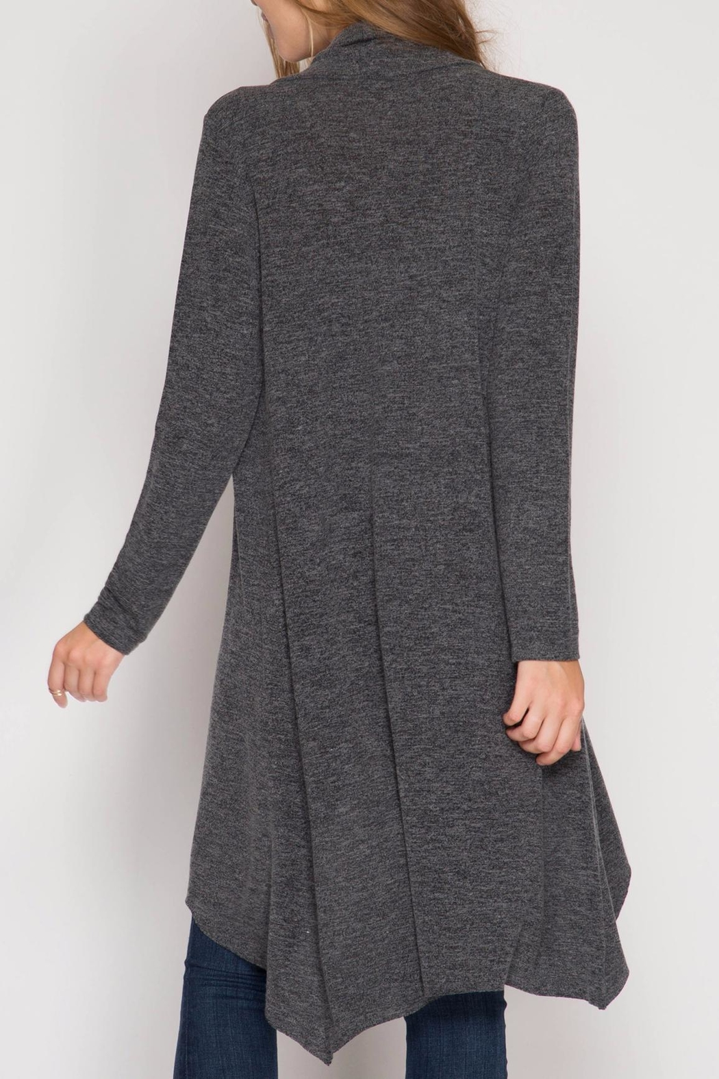 She + Sky Open Knit Cardigan - Front Full Image