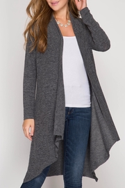 She + Sky Open Knit Cardigan - Product Mini Image