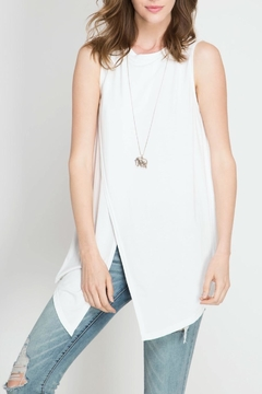 Shoptiques Product: Overlapping Sleeveless Top