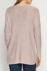 She + Sky Overlapping Sweater - Side cropped