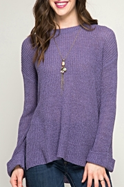 She + Sky Passionate Purple Sweater - Front cropped