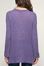 She + Sky Passionate Purple Sweater - Front full body
