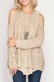 She + Sky Peek-a-boo Back Sweater - Product Mini Image