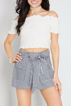 Shoptiques Product: Peekaboo Striped Shorts
