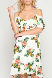 She + Sky Pineapple Shift Dress - Product Mini Image