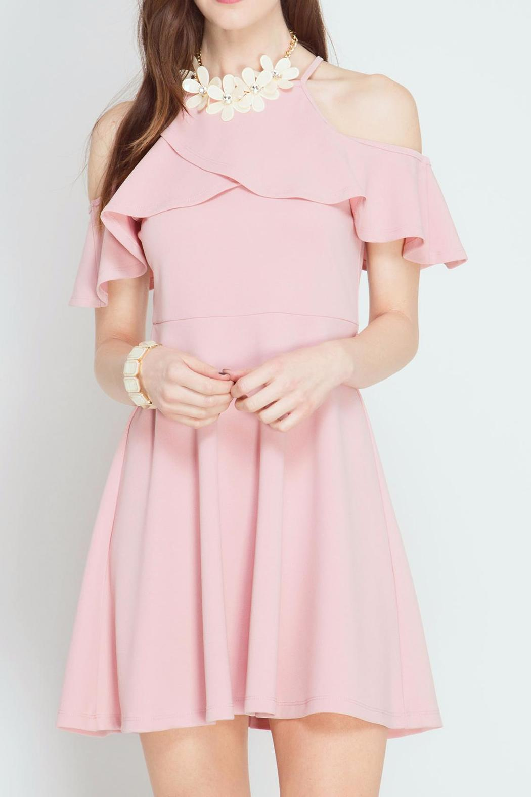 She + Sky Pink Petal Dress - Main Image