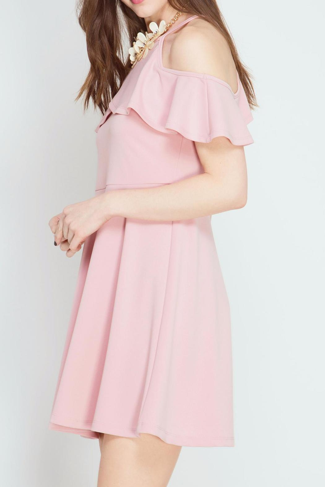 She + Sky Pink Petal Dress - Front Full Image