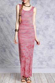 She + Sky Pink Striped Maxi - Front cropped
