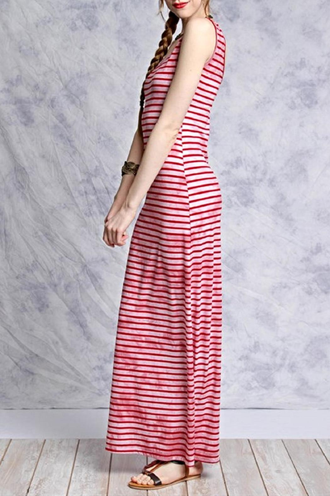 She + Sky Pink Striped Maxi - Front Full Image