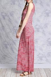 She + Sky Pink Striped Maxi - Front full body