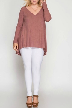 She + Sky Pink Thermal Top - Alternate List Image
