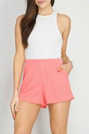 She + Sky Pique Shorts - Product Mini Image