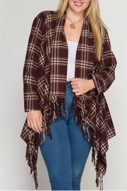 She + Sky Plaid Cardigan - Product Mini Image