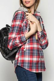 She + Sky Plaid Hooded Jacket - Other