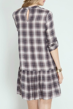 She + Sky Plaid Ruffle Dress - Alternate List Image