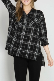 She + Sky Oversized Plaid Shirt - Product Mini Image