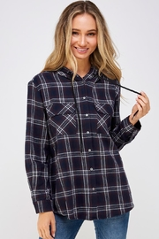 She + Sky Plaid Shirt Hoody - Product Mini Image