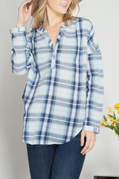 Shoptiques Product: Plaid Top Pin Tucking