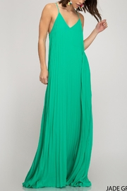 She + Sky Pleated Racerback Maxi - Product Mini Image