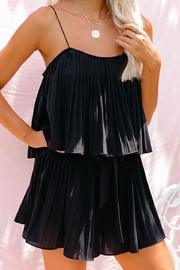 She + Sky Pleated Romper - Front cropped