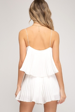 She + Sky Pleated Romper - Alternate List Image
