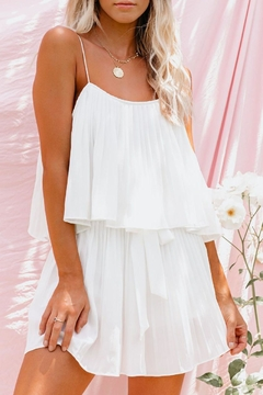 She + Sky Pleated Romper - Product List Image