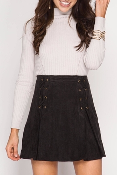 Shoptiques Product: Pleated Vegan Suede Skirt