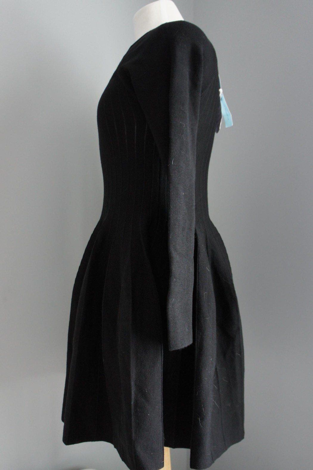 She + Sky Pleated Sweater Dress - Front Full Image
