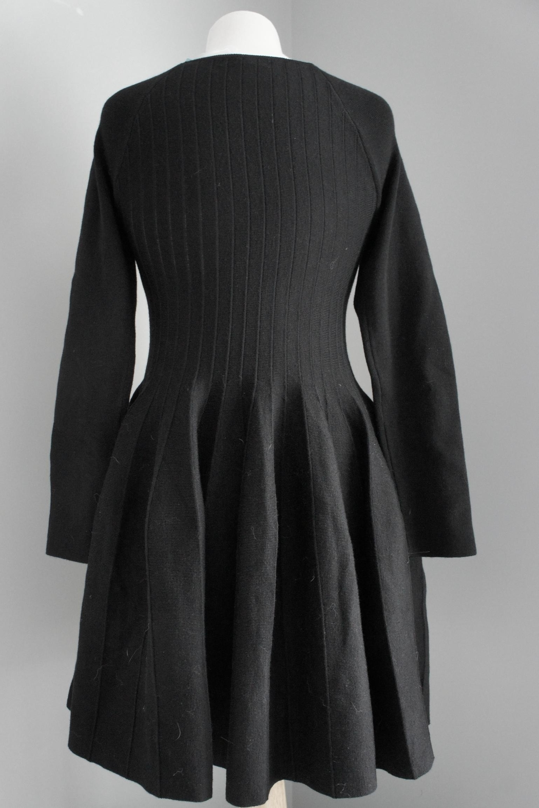 She + Sky Pleated Sweater Dress - Side Cropped Image