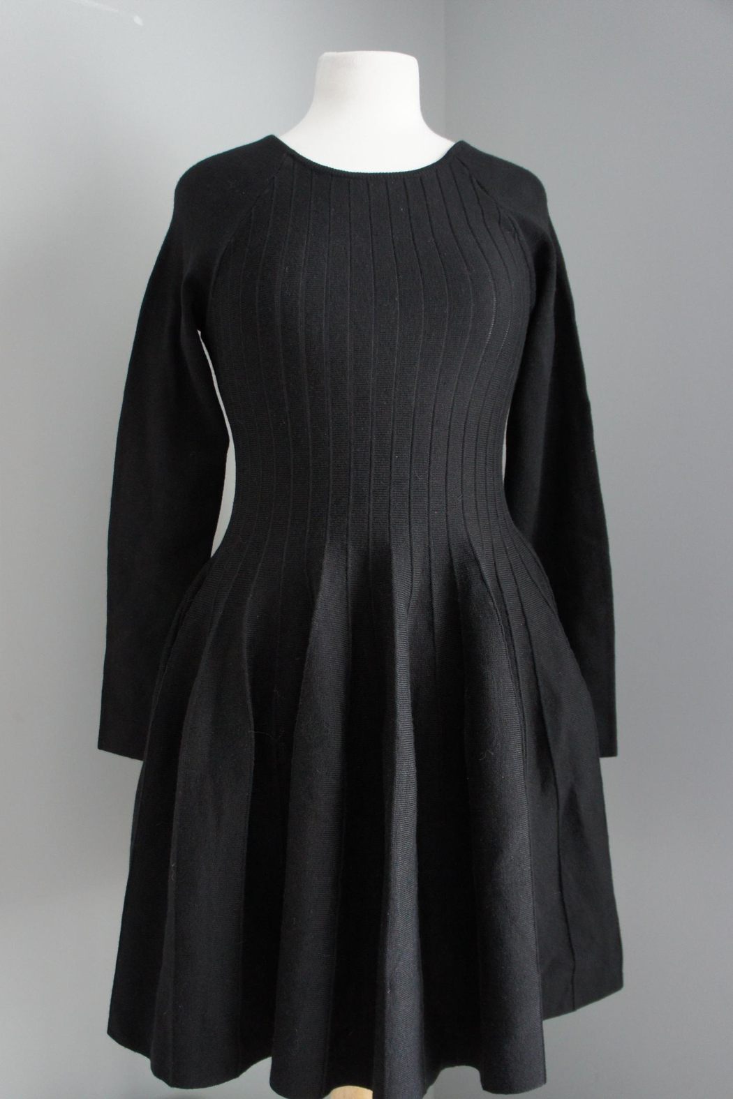 She + Sky Pleated Sweater Dress - Main Image