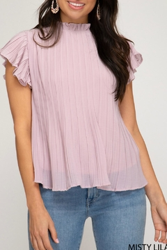 She + Sky Pleated Top - Product List Image