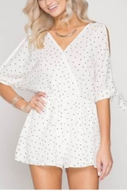 She + Sky Polka Dot Romper - Product Mini Image
