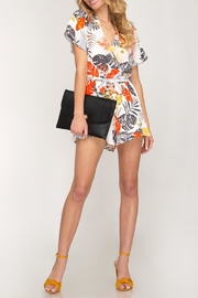 She + Sky Printed Floral Romper - Product Mini Image