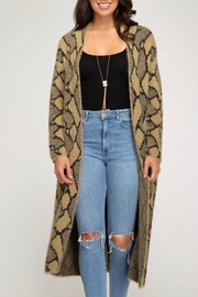She + Sky Printed Long Cardigan - Product Mini Image