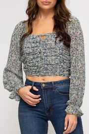 She + Sky Provence Floral Top - Front cropped