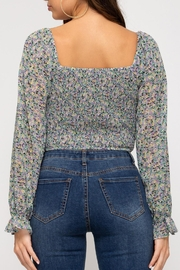 She + Sky Provence Floral Top - Front full body