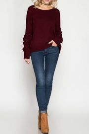 She + Sky Pullover Sweater - Front full body
