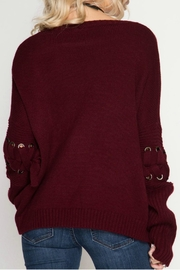 She + Sky Pullover Sweater - Back cropped