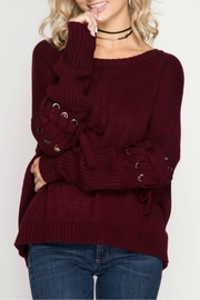 She + Sky Pullover Sweater - Front cropped