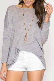 She + Sky Pullover Twisted Back - Front full body