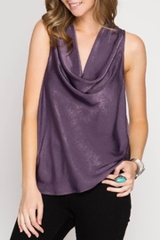 She + Sky Purple Shine Tank - Product Mini Image
