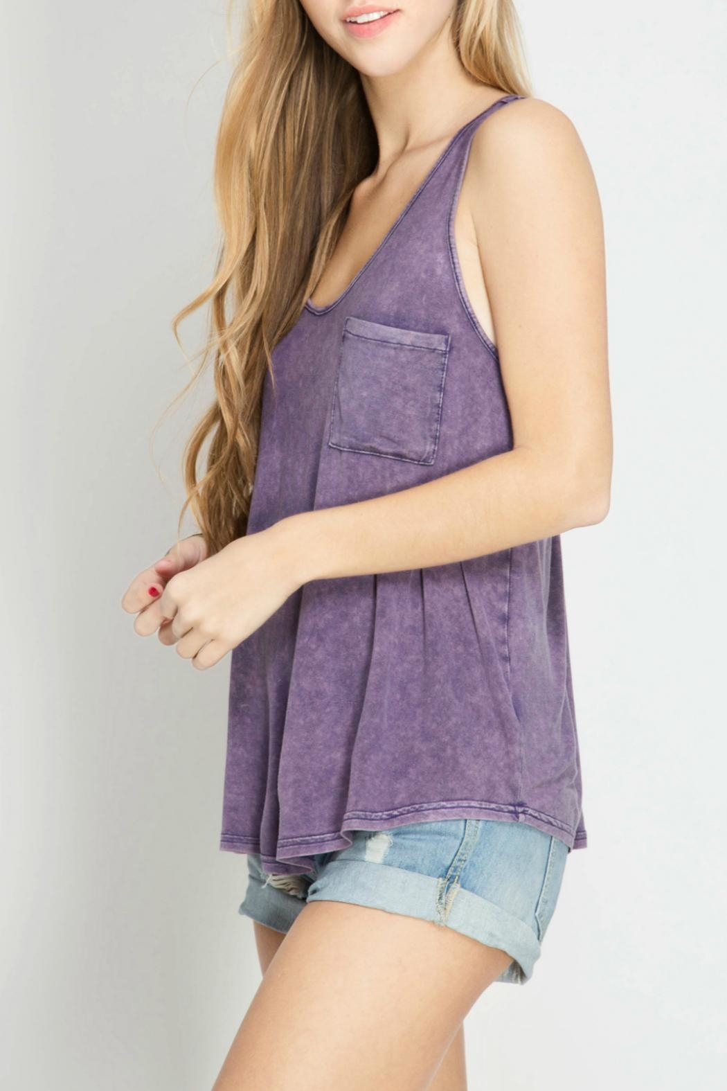 She + Sky Racer Back Tank Top - Front Cropped Image